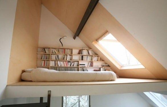 Kleine Wohnung Einrichten Mit Hochbett_coole Idee Für Jugendzimmer Mit  Loftbett Und Dachfenster