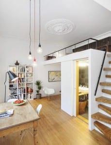 kleine wohnung einrichten mit hochbett_coole ideen zum 1 zimmer ...