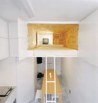 kleine wohnung einrichten mit hochbett einrichtungsideen f r kleine schlafzimmer freshouse. Black Bedroom Furniture Sets. Home Design Ideas