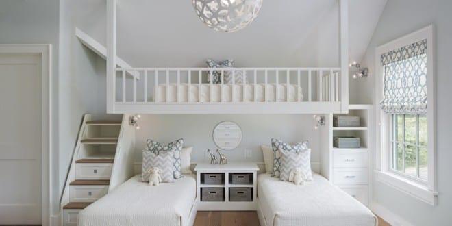 kleine wohnung einrichten mit hochbett kinderzimmer f r drei kinder kreativ einrichten mit. Black Bedroom Furniture Sets. Home Design Ideas