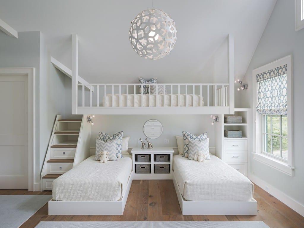 Kleine wohnung einrichten mit hochbett kinderzimmer f r for Kleine sitzecke jugendzimmer
