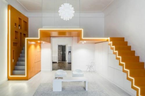 Kleine Wohnung Einrichten Mit Hochbett_lösungen Für Wohnzimmer Einrichten  Mit Schlafbereich In Der Höhe