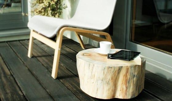 Terrasse gestalten mit DIY Beistelltisch
