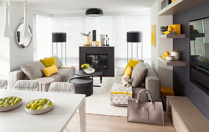 Gelb im wohnzimmer raumgestaltung mit sonnigem akzent for Raumgestaltung hochzeit