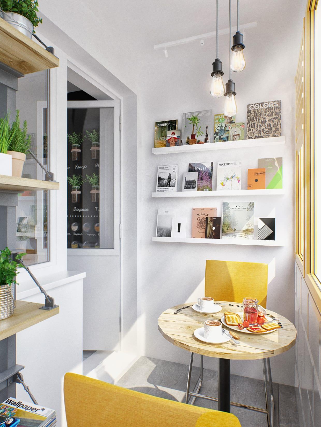 Kleine Wohnung modern und funktionell einrichten_ kleiner balkon ...