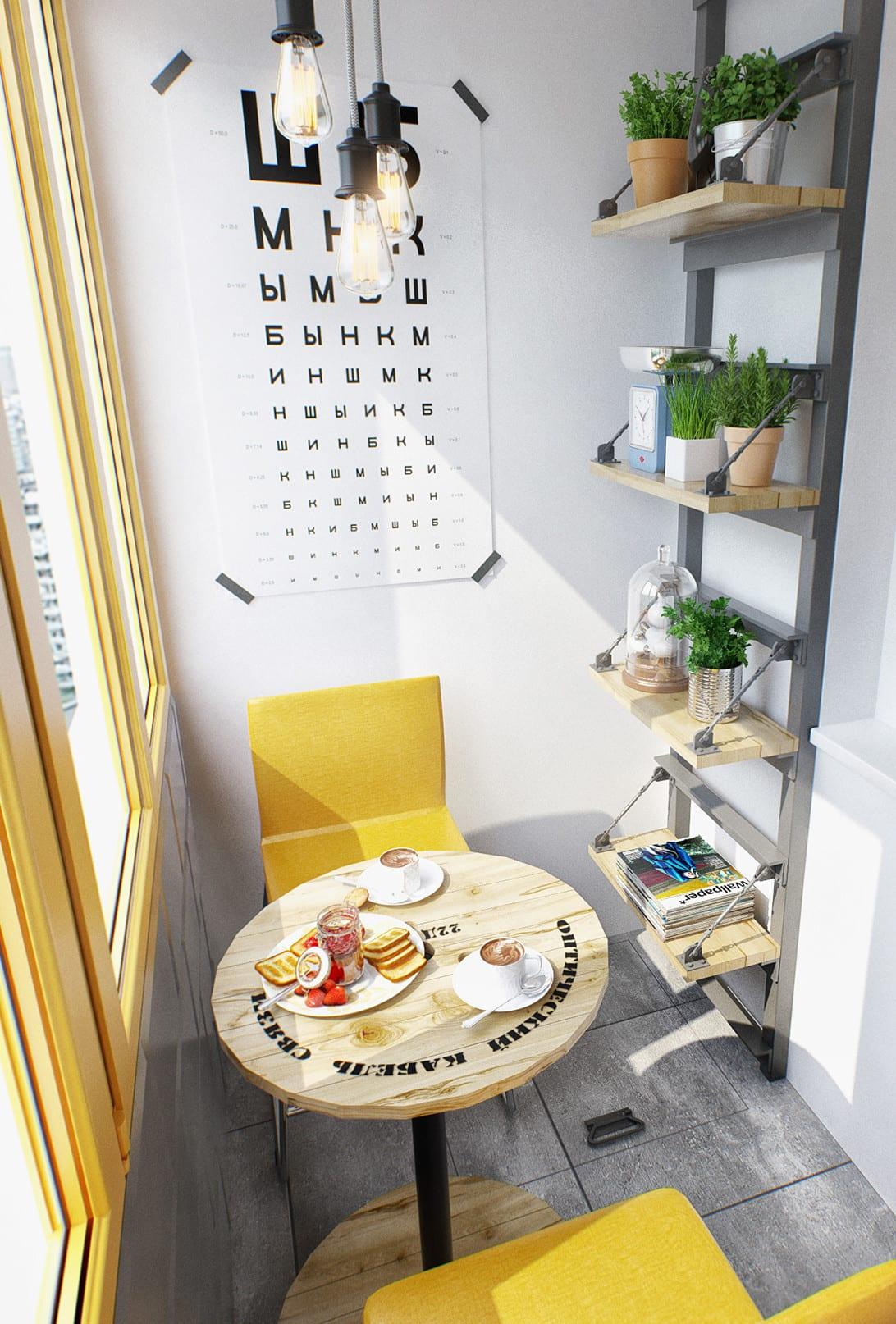 Kleine Wohnung modern und funktionell einrichten_balkon gestalten in ...