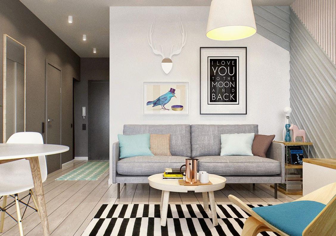 Kleine Wohnung modern und funktionell einrichten_designinspiration ...