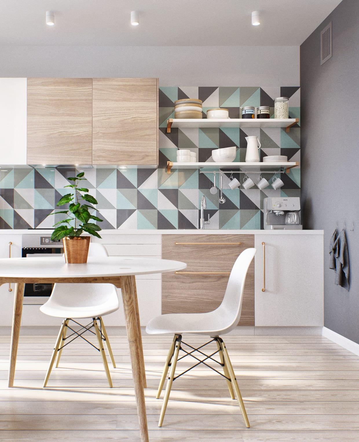 Kleine Wohnung modern und funktionell einrichten_moderne küche in ...
