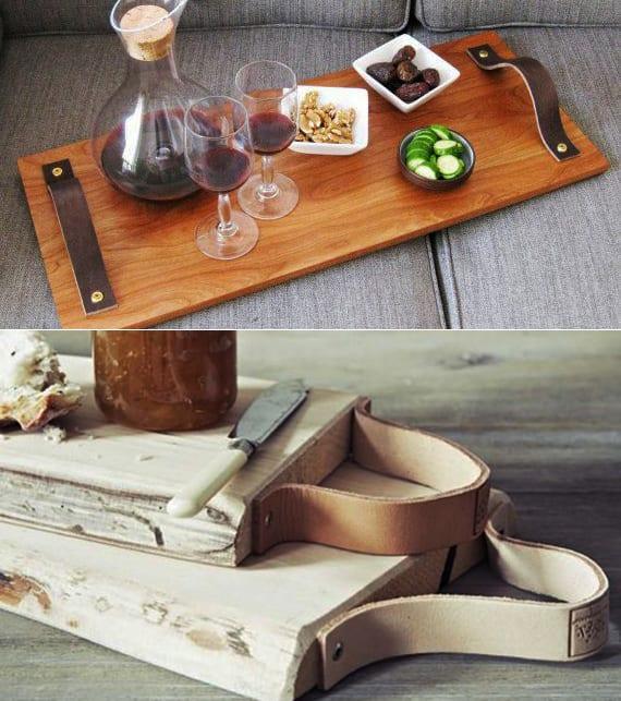 leder was man alles daraus machen kann diy schneidebrett. Black Bedroom Furniture Sets. Home Design Ideas