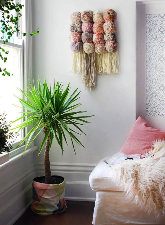 Selber Deko Machen wandbehang deko selber machen mit pompoms freshouse