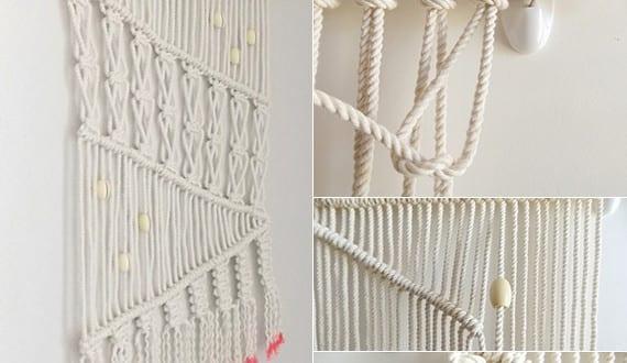 Wandbehang deko selber machen makramee anleitung freshouse - Makramee wandbehang ...