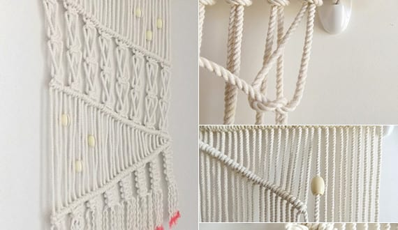 Wandbehang deko selber machen makramee anleitung freshouse - Geweih deko selber machen ...