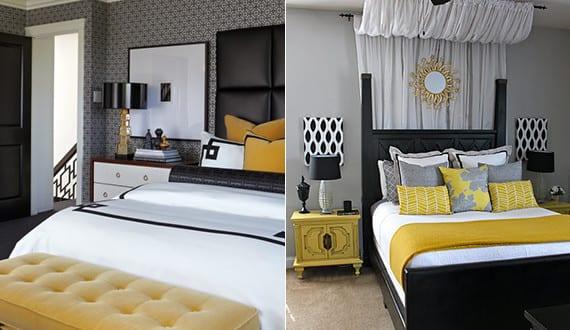 schlafzimmer in schwarz gelb raumgestaltung mit sonnigem akzent freshouse. Black Bedroom Furniture Sets. Home Design Ideas