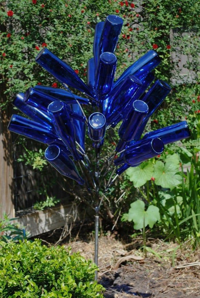 besondere ideen gartengestaltung, 50-ideen-für-diy-gartendeko-und-kreative-gartengestaltung in blau, Design ideen