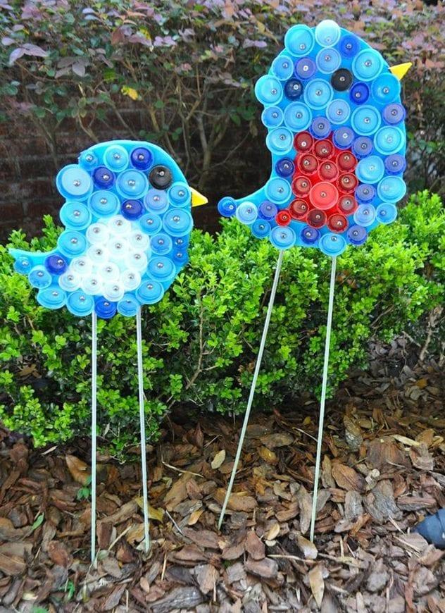 50 ideen f r diy gartendeko und kreative gartengestaltung for Gartengestaltung vogel