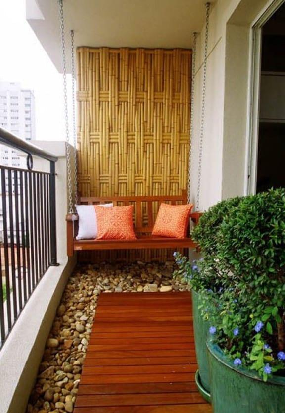 Bambus Im Wohnzimmer der balkon unser kleines wohnzimmer im sommer mit bambus und kies