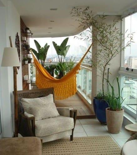 Der Balkon Unser Kleines Wohnzimmer Im Sommer Mit Hangematte Und