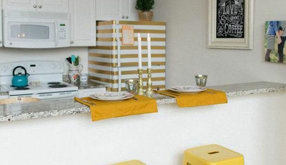 Retro Kühlschrank Gelb : Die küche mit diy retro kühlschrank ausstatten kleine küche neu
