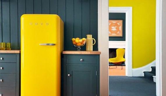 Retro Kühlschrank Design : Die küche mit retro kühlschrank ausstatten coole küchen ideen für