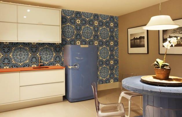 Retro Kühlschrank Blau : Die küche mit retro kühlschrank ausstatten die küche in blau freshouse