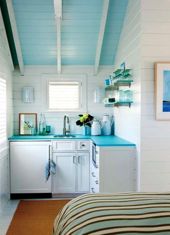 Die Komfortable Wohnküche In Der Kleinen Wohnung_kleine Küche