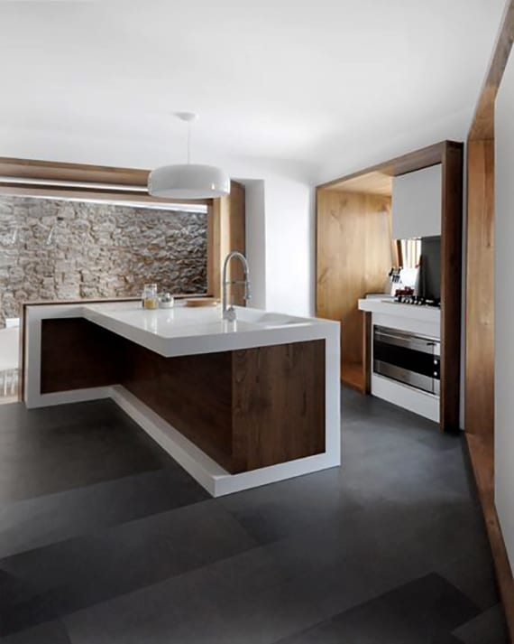 Die Komfortable Wohnkuche In Der Kleinen Wohnung Moderne