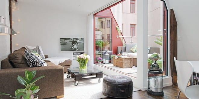 Maisonette in Göteborg: eine Traumwohnung im skandinavischen Stil