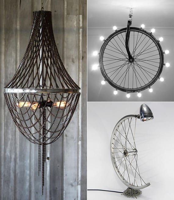Recycling-Alter-Fahrradfelgen-In-Form-Von-Diy-Lampen - Freshouse