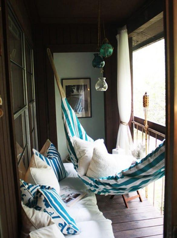 Der Balkon Unser Kleines Wohnzimmer Im Sommer Mit Hangematte