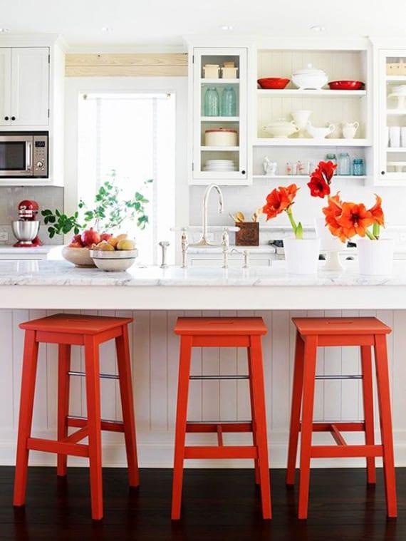Frische Ideen Für Farbgestaltung Einer Wohnküche In Kleiner