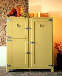 küchen-ideen-mit-vintage-kühlschrank-für-rustikale ...
