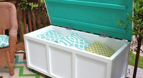 50 coole garten ideen f r gartenbank mit stauraum selber bauen freshouse. Black Bedroom Furniture Sets. Home Design Ideas