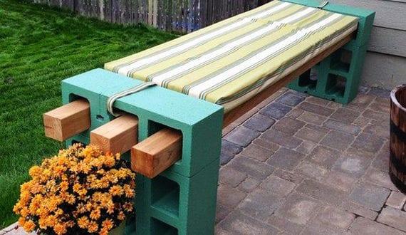 50-coole-Garten-Ideen-für-Gartenbank-selber-bauen-mit-hohlsteinen ...