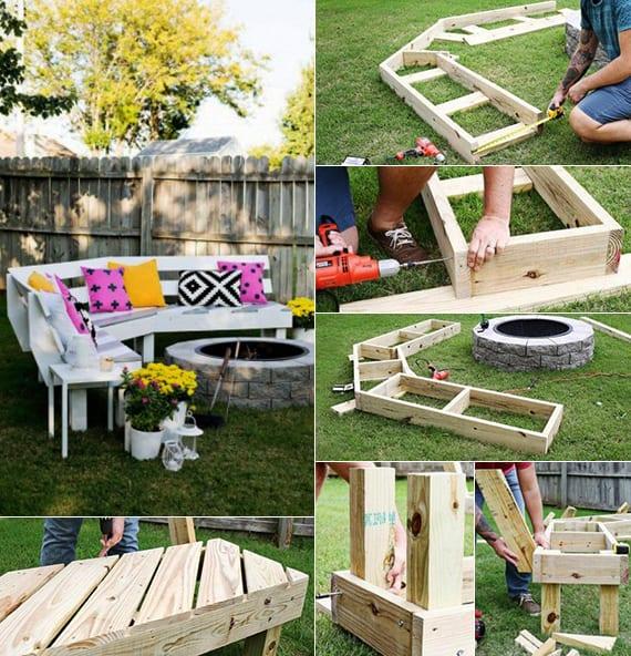 50-coole-Garten-Ideen-für-Gartenbank-selber-bauen ...