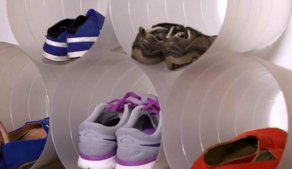 wohnideen f r schuhregal selber bauen aus plastikeimern freshouse. Black Bedroom Furniture Sets. Home Design Ideas