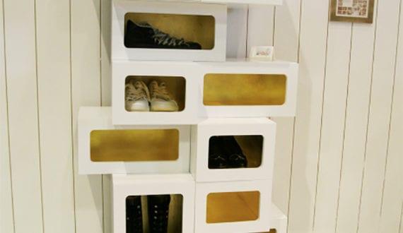 Schuhregal aus schuhkartons bauen  Wohnideen-für-Schuhregal-selber-bauen_diy-schuhregal-in-weiß-und ...