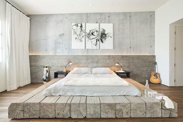 Bett Selber Bauen Für Ein Individuelles Schlafzimmer Design_diy Bett Aus  Holzbalken