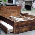 coole diy ideen für bett bauen aus holz_modernes schlafzimmer design mit diy bett