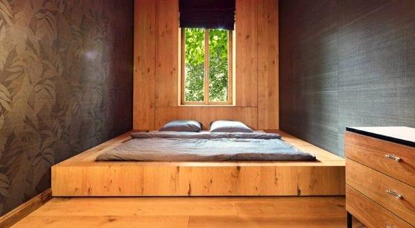 bett selber bauen f r ein individuelles schlafzimmer design diy eingebautes bodenbett freshouse. Black Bedroom Furniture Sets. Home Design Ideas