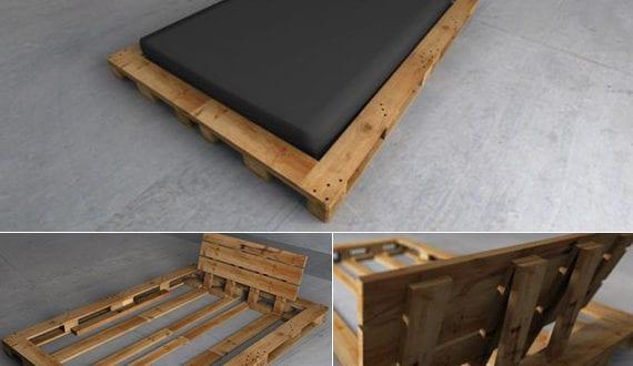 bett selber bauen paletten. Black Bedroom Furniture Sets. Home Design Ideas