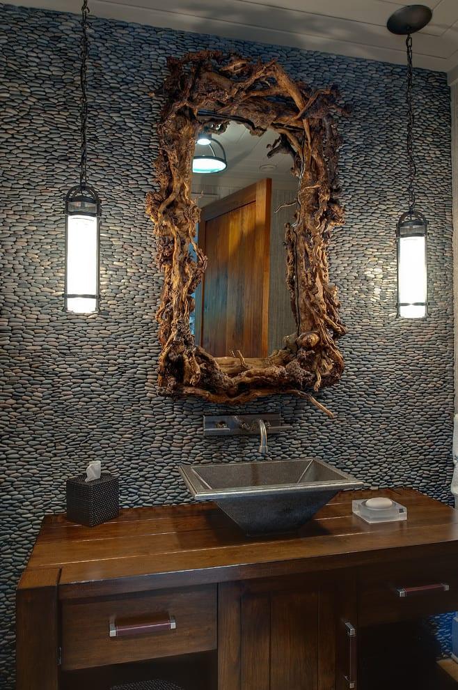Deko Ideen mit Steinen für innen und außen_bad interior design in ...