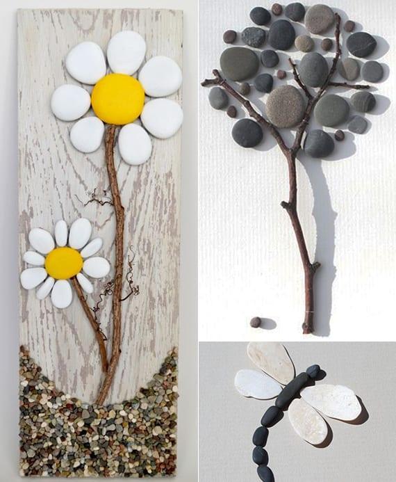 deko ideen mit steinen f r innen und au en cooole wanddeko. Black Bedroom Furniture Sets. Home Design Ideas