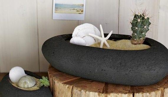 tischdeko ideen fuer den sommer, deko-ideen-mit-steinen-für-innen-und-außen_interessante-sommer-deko, Design ideen