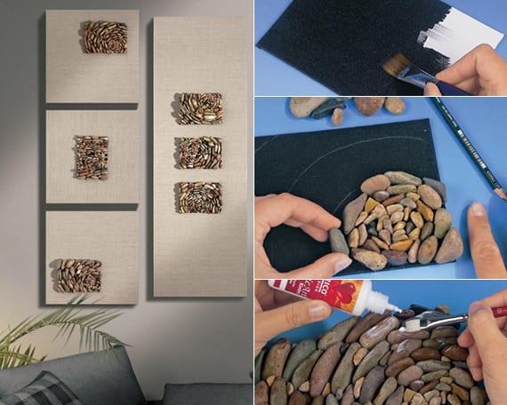 Deko ideen mit steinen für innen und außen kreative