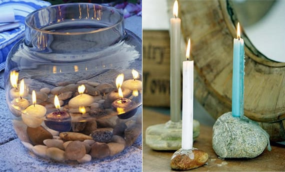deko ideen mit steinen f r innen und au en romantische. Black Bedroom Furniture Sets. Home Design Ideas