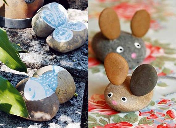 deko ideen mit steinen f r innen und au en tiere basteln mit steinen freshouse. Black Bedroom Furniture Sets. Home Design Ideas