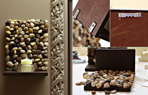 Deko ideen mit steinen f r innen und au en wandleuchter for Wanddeko aussenbereich