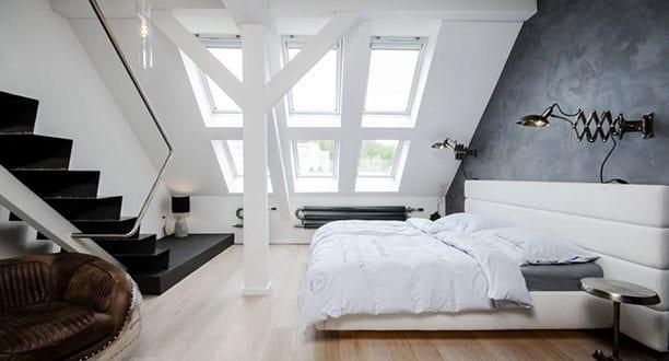 Dachgeschosswohnung Die Vorteile Unterm Dach Zu Wohnen_modernes Schlafzimmer
