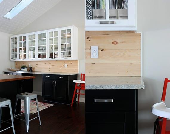 Die-alte-Küche-mit-neuem-Fliesenspiegel ...
