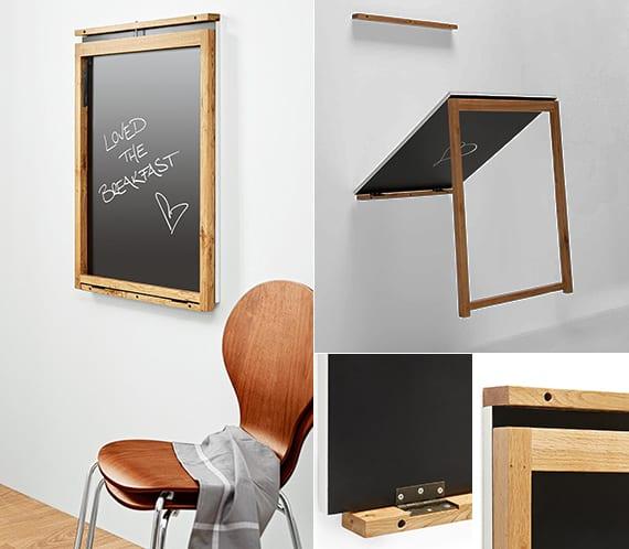 enge und kleine raeume einrichten mit modernem klapptisch diy memoboard und wandklapptisch. Black Bedroom Furniture Sets. Home Design Ideas